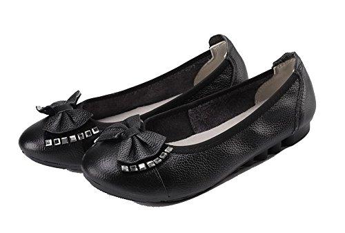 Chaussures L Agoolar Pu Cuir Tire Femme Couleur Unie nqURYw