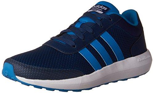 adidas Cloudfoam Race (Little Big Kid) Running Shoe, Solar Blue/White, 4.5 M ()