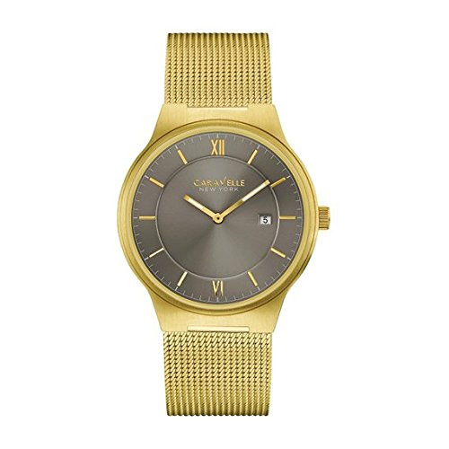 Bulova-Mens-Quartz-Stainless-Steel-Casual-Watch-ColorGold-Toned-Model-44B110