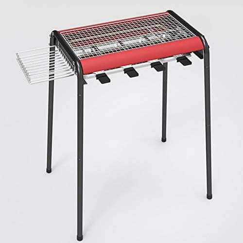 DNNAL Grill Barbecue électrique, Intérieur à Double Usage Smokeless BBQ avec Support, Assiettes et Huile Goutte à Goutte Plaque Anti-adhésive