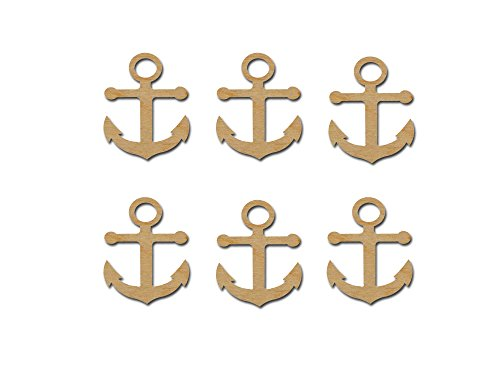 - Anchor Cut Outs Unfinished Wood Mini Anchors 2.5