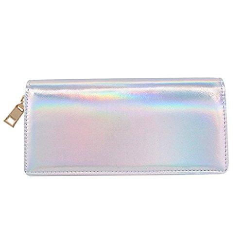 CC-US Women Fashion Hologram Clutch Handbag Wallet Purse Card Holder Phone Pouch
