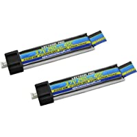 Common Sense RC Lectron Pro 3.7V 250mAh 45C LiPo Battery for Blade/Nano/Tiny Whoop/UMX AS3Xtra Drones, 2-Pack