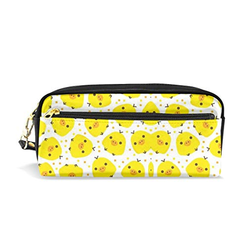 Multifunction Durable Cosmetic Bag Kawaii Yellow Chicks Pencil Bag Pouch Bag Case Makeup Bag