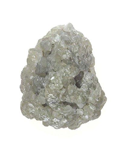 Genuine Sparkling Loose Rough 13.75 Ct Silver Color Diamond by Kakadiya Group
