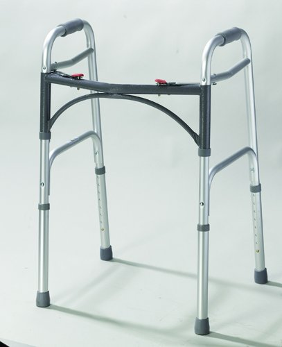 Complete Medical 1075A Easy-Release 2 Button Folding Walker Adult by Everything Medical