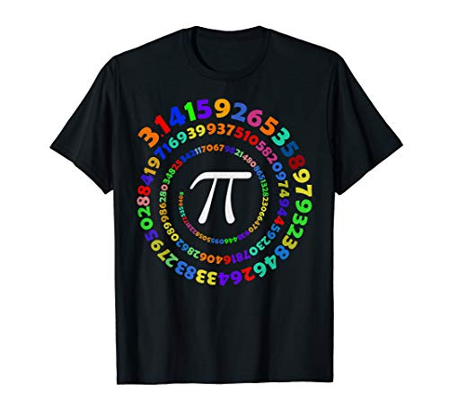 (Pi Spiral TShirt 3.14 Math Teacher Tee Pi National Day Shirt)