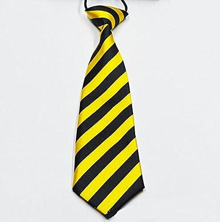 Flowerrs Boys Stripe Slim Tie Skinny corbata tejida microfibra ...
