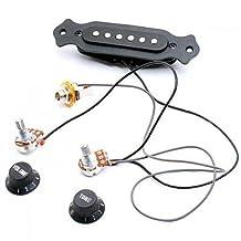 SODIAL(R) Magnetic acoustic pickup for guitar Black