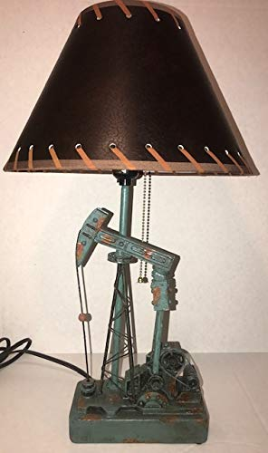 18 Inches Brown Oilfield Pumping Unit Lamp with Shade Oilfield Gift Oil Drill rig Derrick lamp Model Awards Executive Office Decoration