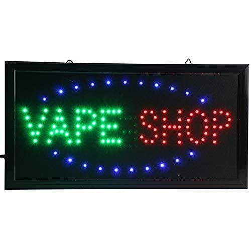 CHENXI Led Neon Vape Shop Open Store Signs E-Vape E-Liquid Sign Board  Indoor (48 X 25 cm, Vape Shop)