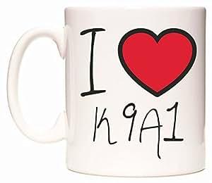 I Love K9A1 Taza por WeDoMugs