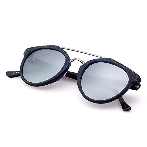 Vintage Fashion Sunglasses for women,Ultra QualityAcetate Frame,Polarized Lens,Mirror Coating, Fit for Small - For Small Good Sunglasses Faces