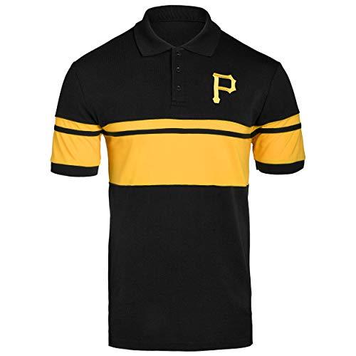 FOCO MLB Pittsburgh Pirates Cotton Stripe Polo - Mens Large (Pittsburgh Pirates Tshirts Mens)