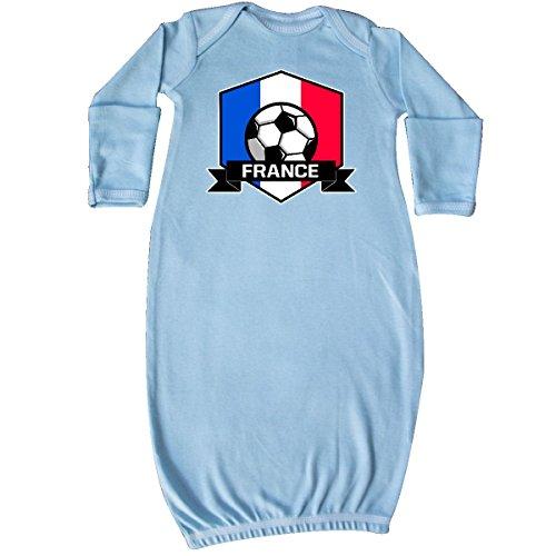 Apparel Layette (inktastic Soccer France Flag Banner Newborn Layette Light Blue 3118d)