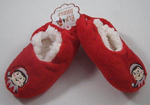 [Elf on the Shelf Fuzzy Babba Slipper Socks 4T-5T ( Shoe size 8-13 )] (Elf On Shelf Costumes)