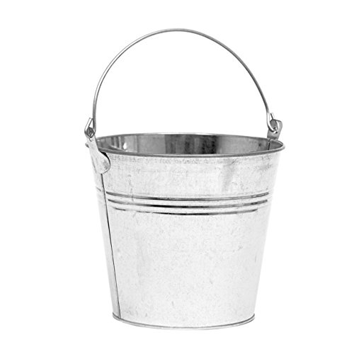 Floristrywarehouse Decorative Galvanised Bright Metal Bucket 6 Inches ()