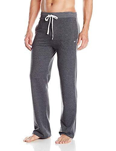 YogaAddict Men Yoga Long Pants, Pilates, Fitness, Workout, Casual, Lounge, Sleep, Martial Arts Pants (Sale Price), Dark Grey - Size XL
