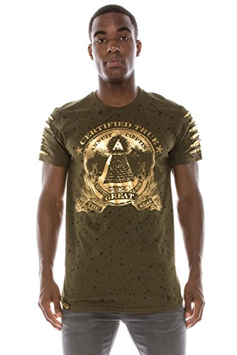 Mens Hipster Hip Hop Paint Splash W/Foil Money Print for sale  Delivered anywhere in USA