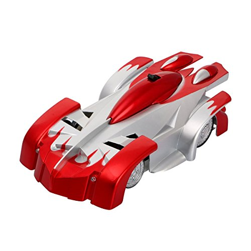 Rc Cars Racers - TONOR 4CH Remote Control RC Wall Climbing Climber Rocket Toy Car Racer Red