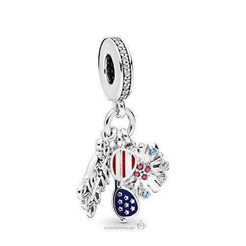 - PANDORA American Icons July 4th Special 925 Sterling Silver Charm - 798020CZMX