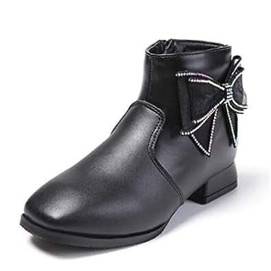 Amazon.com | Girls Genuine Leather Boots Princess Student