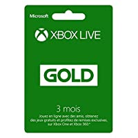 Microsoft xbox 360 live 3-mo gold card french sleeved (52K-00031)