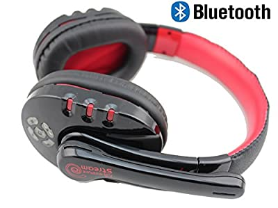 Chafon Cool Nice V8 Bluetooth 4.0 Wireless Microphone Headset Headphone ,High Fidelity Surround Sound Noise Isolating Microphone Stereo Bluetooth Headphone Headset with Mic and Handsfree Calling for PS3, iphone, Smart Phone, Mp3 Players - 12 Hours Talk Ti