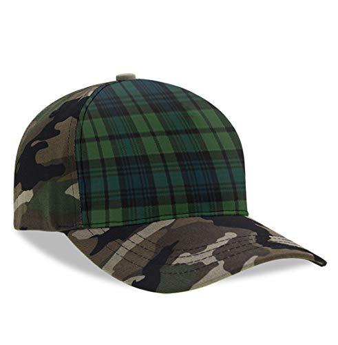 YongColer Men Women Scottish Tartan Plaid Dad Cap, Fitted Trucker Hat, Baseball Cap, Peaked Hats, Moisture Wicking Breathable Tech Cap for Baseball Running Travel
