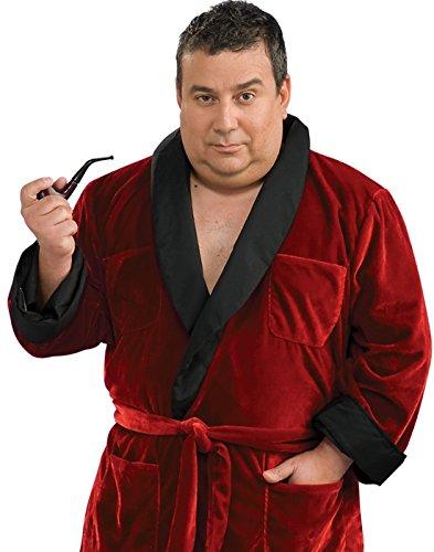 Rubie's Costume Plus Size Playboy Hugh HEFNER Red Smoking Jacket Robe Costume Plus Size(Adult Plus 46