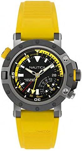 Nautica Reloj Analógico para Hombre de Cuarzo con Correa en Silicona NAPPRH003