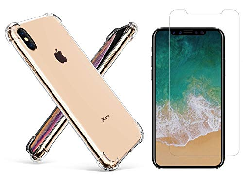 iPhone Xs Max Case Clear and Screen Protector! by Turner Premium Products Designed for Ultimate Protection of iPhone X Series Cell Phones. (iPhone Xs Max) ()