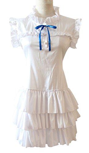 Meiko Cosplay Costume (Mtxc Women's Anohana The Flower We Saw That Day Cosplay costume Meiko Honma Menma Dress Size Small White)