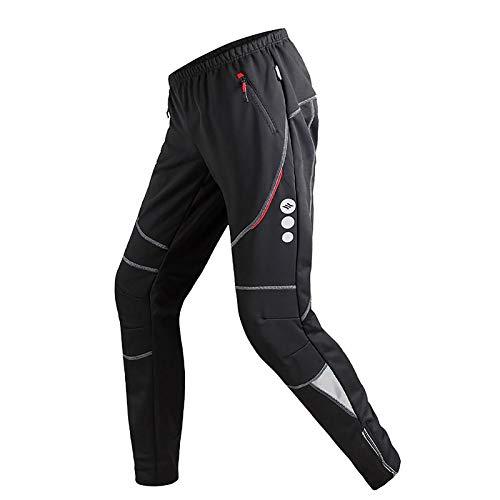 Santic Men's Cycling Trousers Fleece Thermal Winter Warm Windproof Pants Black