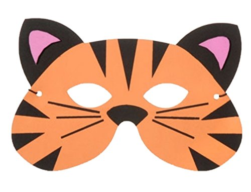 Faerynicethings Foamies Child's Foam Face Mask - Tiger