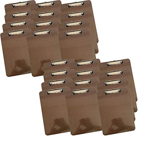 Letter Size Clipboard, Low Profile Clip Standard A4 [Pack of 24] -