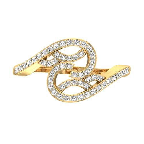 Or jaune 18K 0,31CT TW Round-cut-diamond (IJ | SI) en diamant