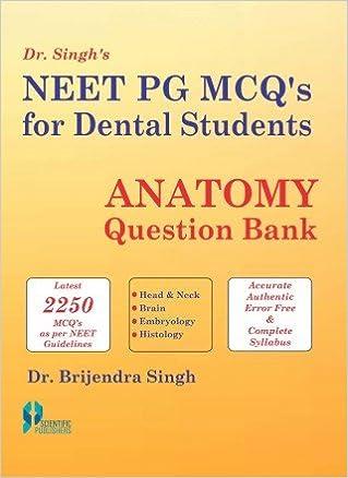 Buy NEET PG MCQs for Dental Students: Anatomy Question Bank (PB ...