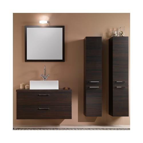 Iotti Iotti A14-Wenge-637509898793 Aurora Collection Bathroom Vanity, Wenge - Iotti Aurora Collection