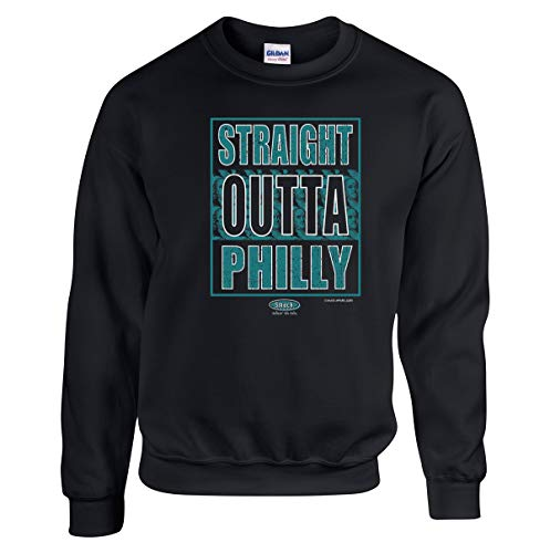 - Philadelphia Football Fans. Straight Outta Philly Black T-Shirt (Sm-5X) (Fleece, Medium)