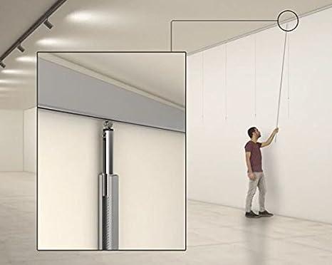 MARCS ARIAS SL Pack Express Basic 12 RM Guías de Aluminio Plata Mate con colgadores Express Nylon para Colgar Cuadros …: Amazon.es: Hogar