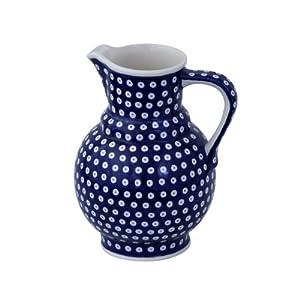 Boleslawiec Pottery Milk and water jug, 1.75L, Original Bunzlauer Keramik, Decor 42