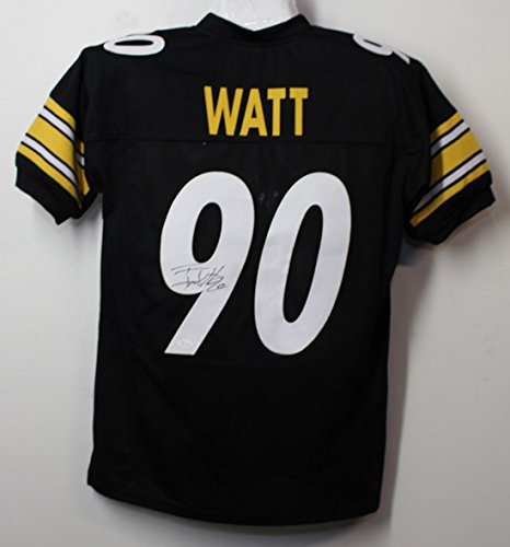 TJ Watt Autographed Pittsburgh Steelers Size XL Black Jersey (Wilson Black Football Jersey)