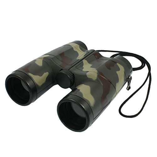 SODIAL(R) T¨¦lescope binoculaire objectif 4X 31mm mod¨¨le de camouflage pour l'enfant & lani¨¨re