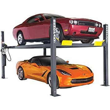 BendPak 4-Post Car Lift - 9000-Lb  Capacity, Gray Model Number HD-9
