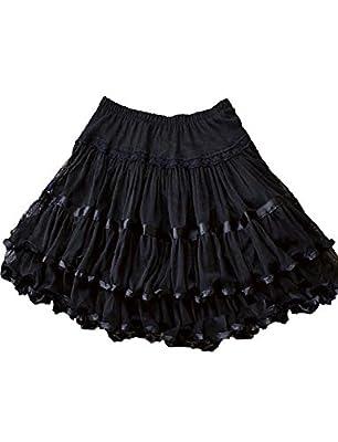 Yummy Bee Womens Lace Rockabilly Long Swing Skater Skirt Plus Size 2-24