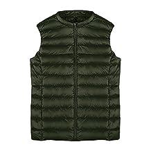 Ecupper Womens Ultra Light Weight Short Vest Coat Down Jackets