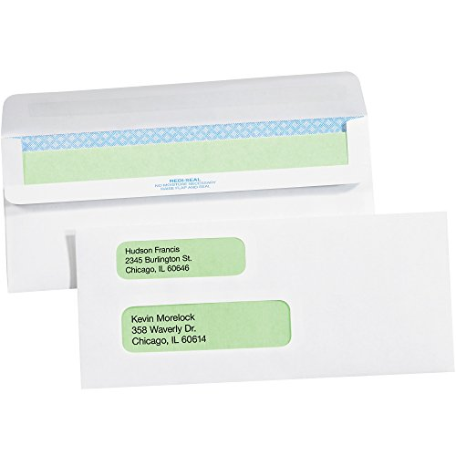 Cajas rápido bfen1107Redi-Seal sobres con tintado de seguridad de negocios, 9doble ventana, 37/20.3cm X 87/8,...
