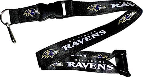 NFL Baltimore Ravens Team Lanyard, Black