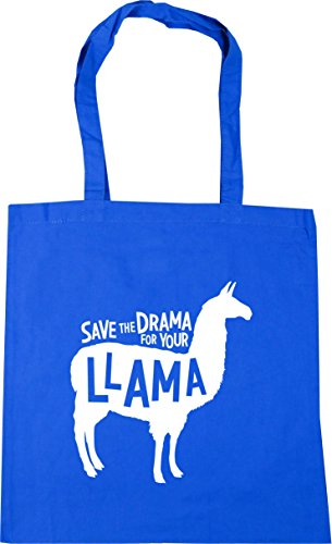 42cm Llama Save the Tote Cornflower Drama Gym Shopping Blue HippoWarehouse x38cm Beach 10 Bag for Your litres PTqdxF